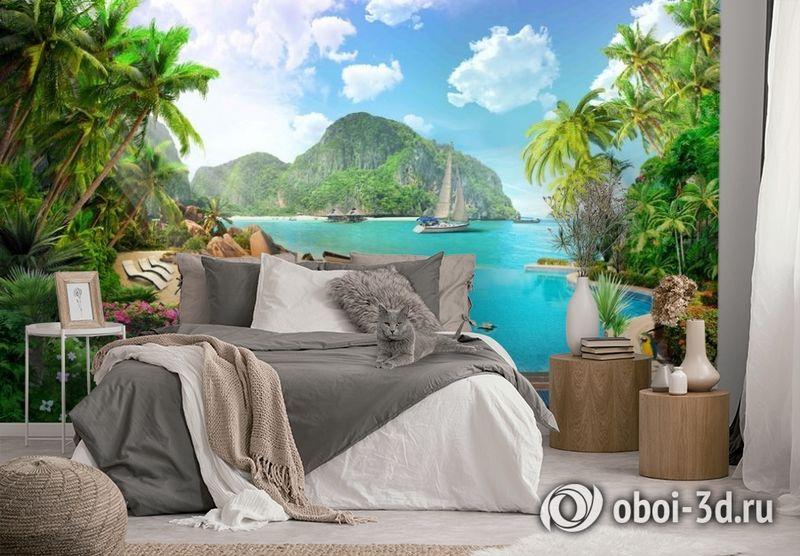 3D Фотообои «Курортный островок» вид 2