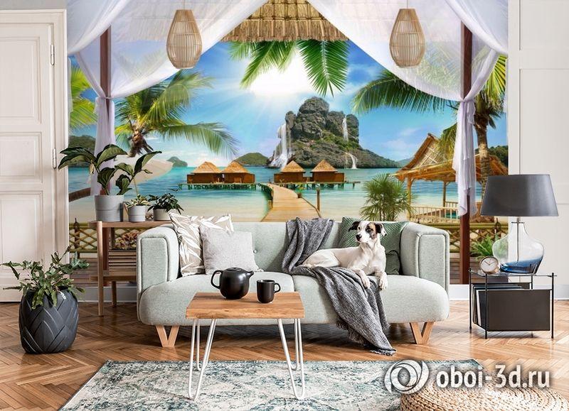 3D Фотообои «Тропическая терраса» вид 6