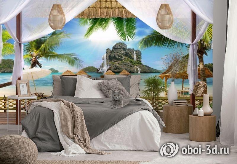 3D Фотообои «Тропическая терраса» вид 2