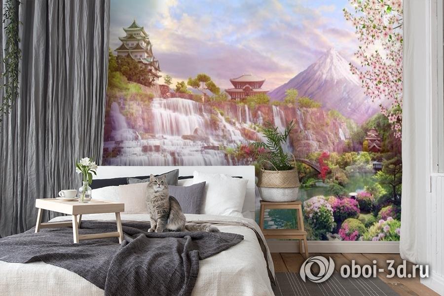 3D Фотообои «Долина водопадов в японии» вид 7
