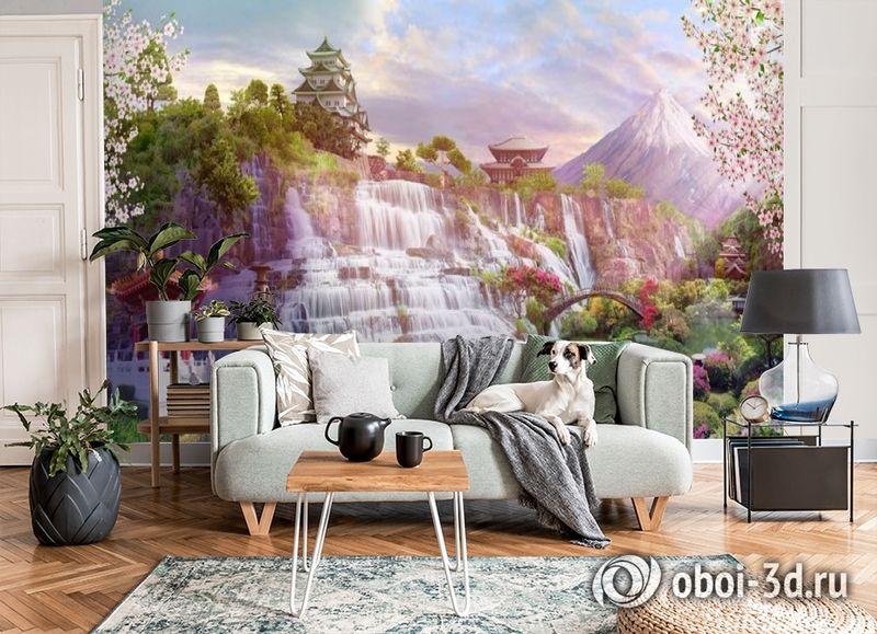 3D Фотообои «Долина водопадов в японии» вид 6