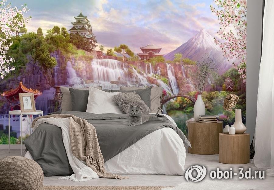 3D Фотообои «Долина водопадов в японии» вид 2