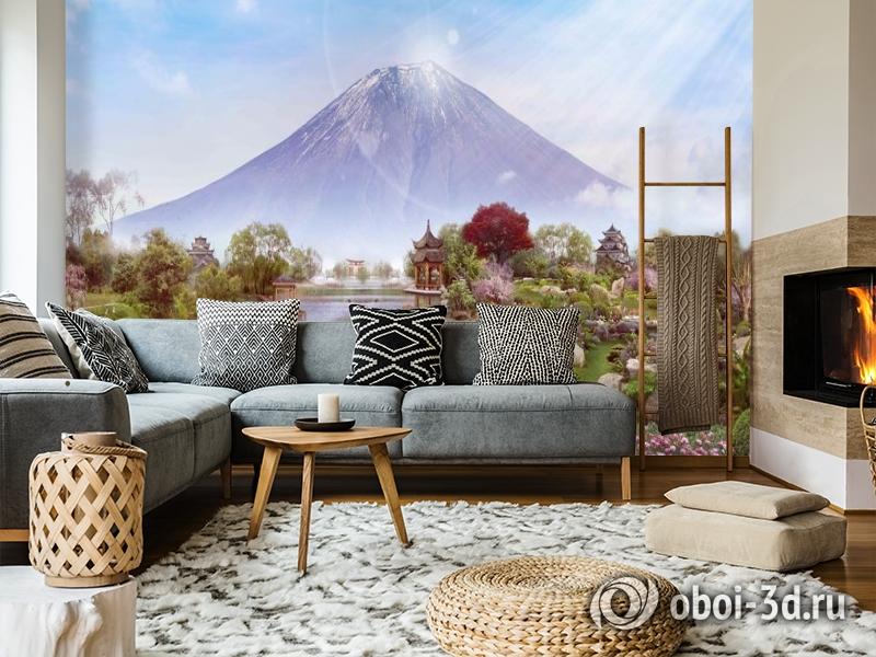 3D Фотообои «Японский сад с видом на Фудзияму» вид 5