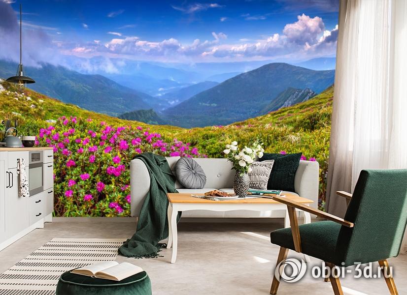 3D Фотообои  «Горные цветы» вид 7