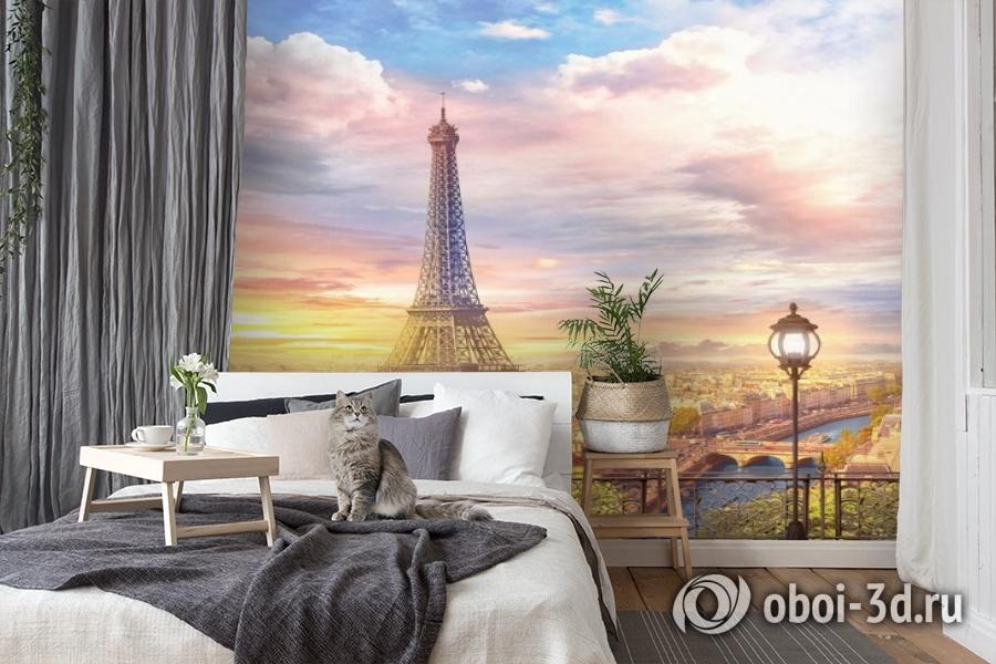 3D Фотообои «Весенний Париж» вид 7