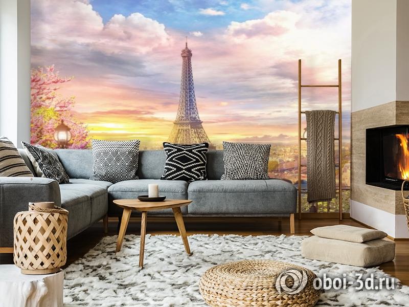 3D Фотообои «Весенний Париж» вид 5