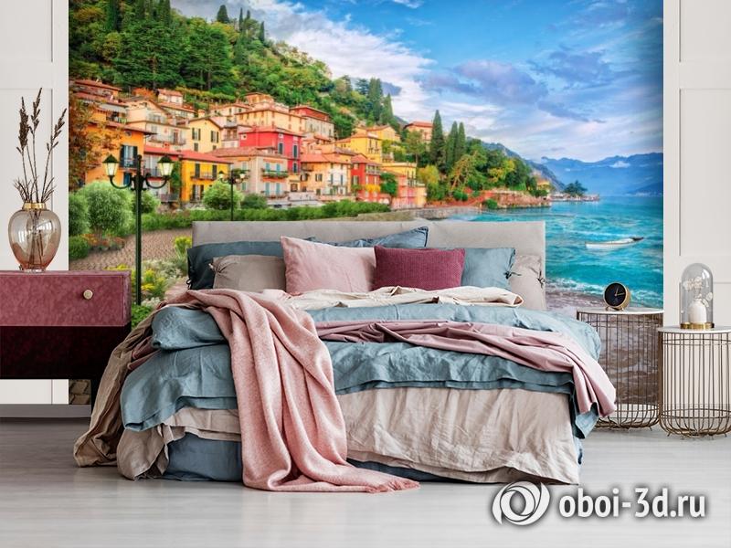 3D Фотообои «Прилив на итальянском побережье» вид 3