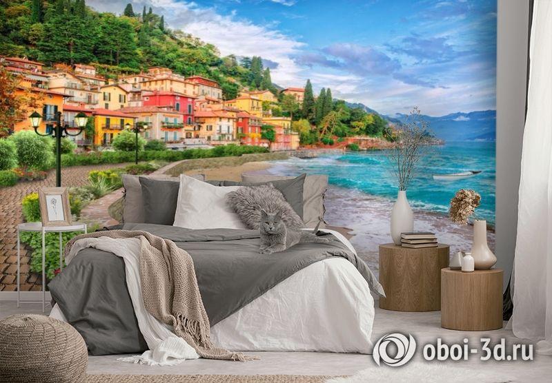 3D Фотообои «Прилив на итальянском побережье» вид 2