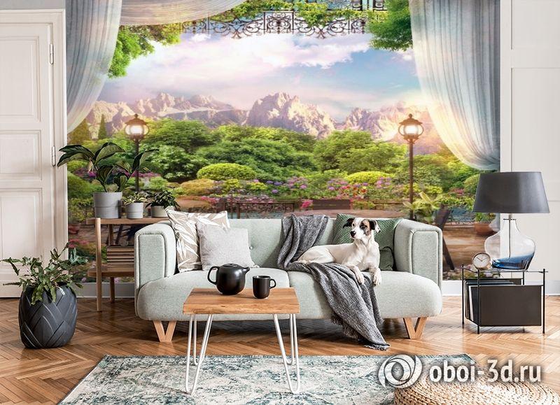 3D Фотообои «Ресторанчик в горах» вид 6