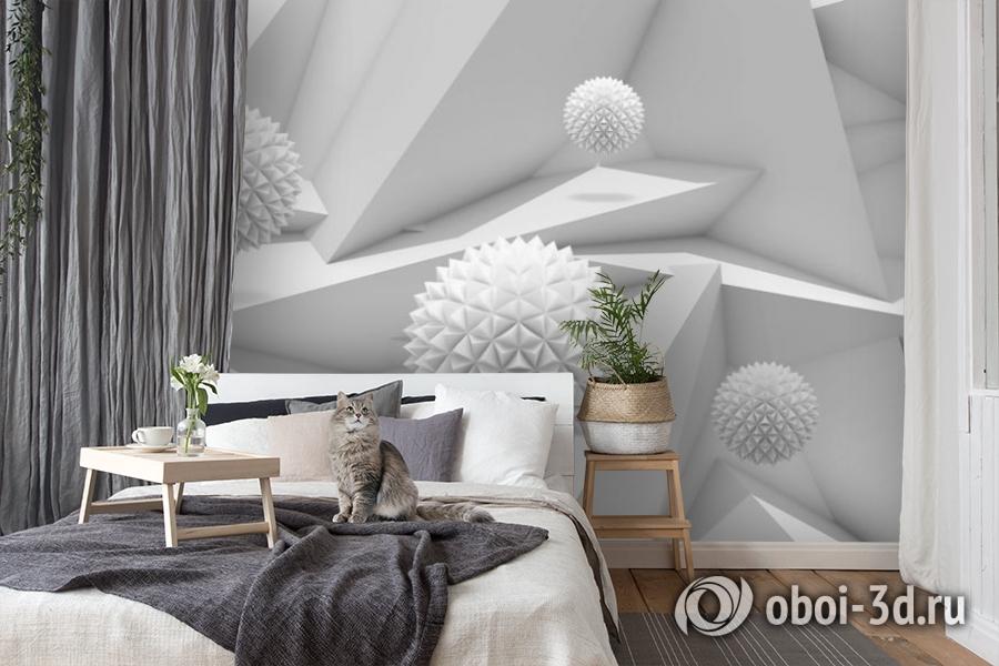 3D Фотообои «Колючие шары на объемном фоне» вид 8
