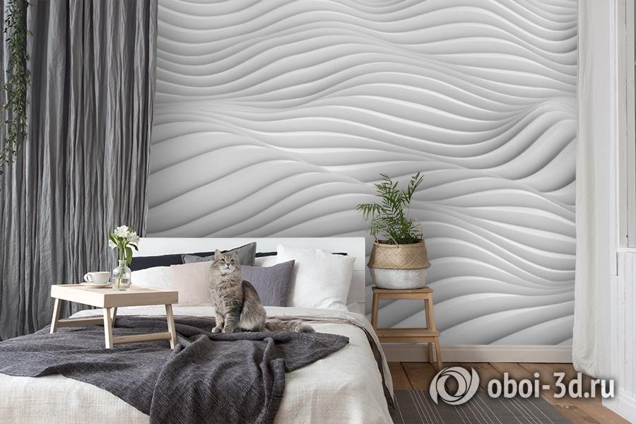 3D Фотообои «Объемные волны» вид 8