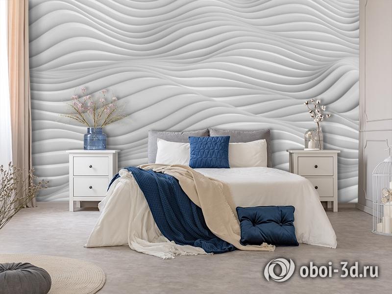 3D Фотообои «Объемные волны» вид 5