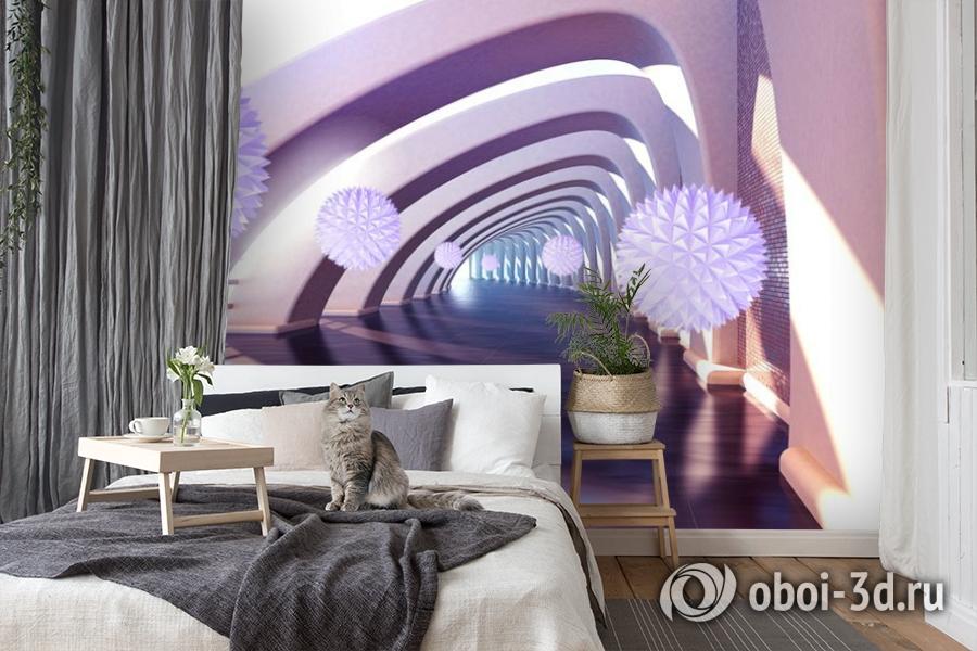 3D Фотообои «Солнечный тоннель» вид 8