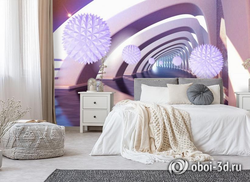 3D Фотообои «Солнечный тоннель» вид 6