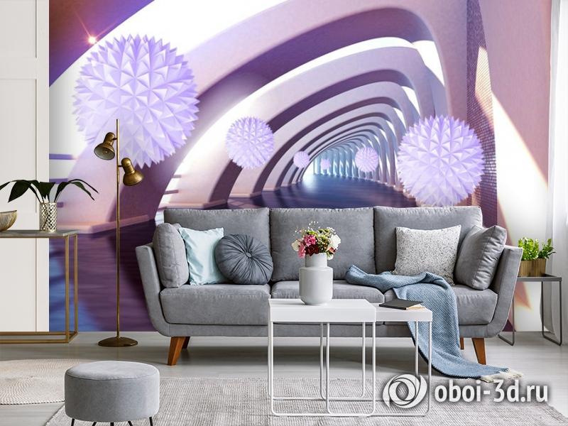 3D Фотообои «Солнечный тоннель» вид 4