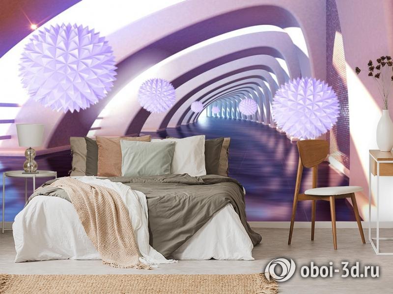 3D Фотообои «Солнечный тоннель» вид 3