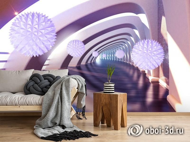 3D Фотообои «Солнечный тоннель» вид 2