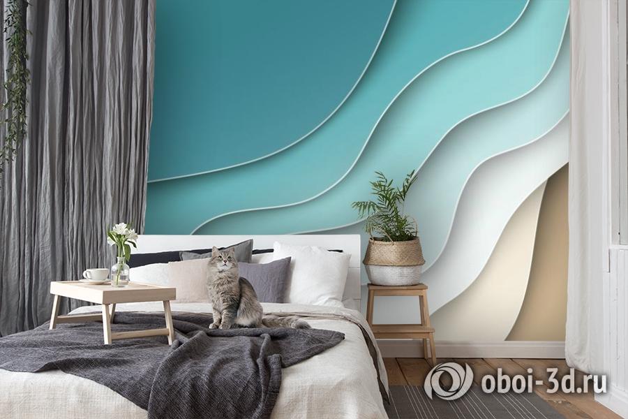3D Фотообои «Волнистая стена» вид 8