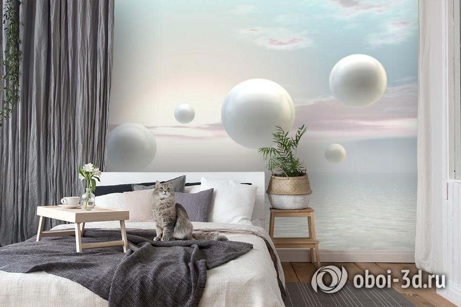 3D Фотообои «Жемчужины парящие над океаном» вид 8