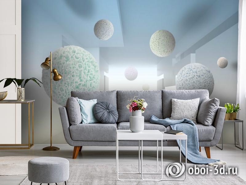 3D Фотообои «Сферическая абстракция» вид 4