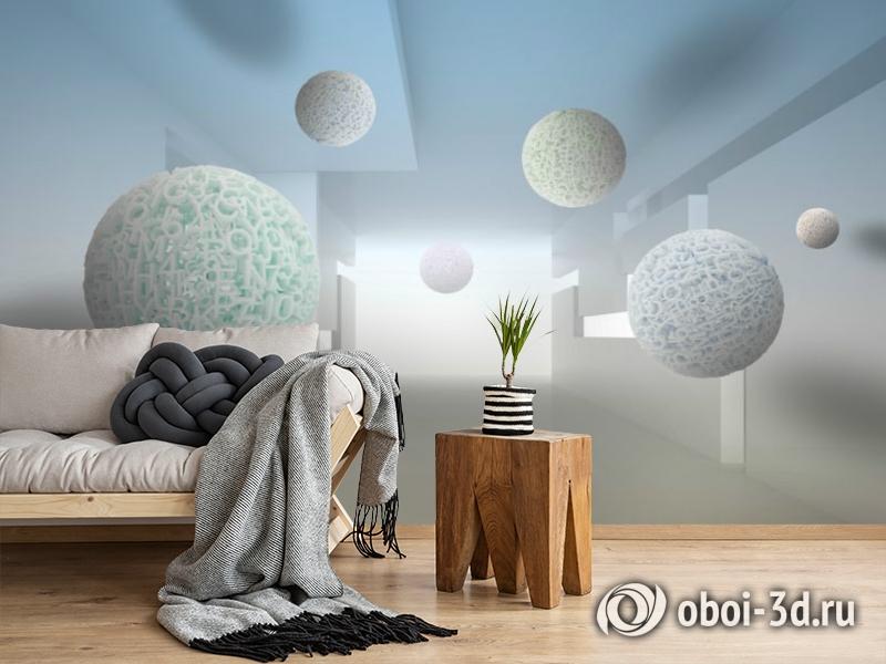 3D Фотообои «Сферическая абстракция» вид 2