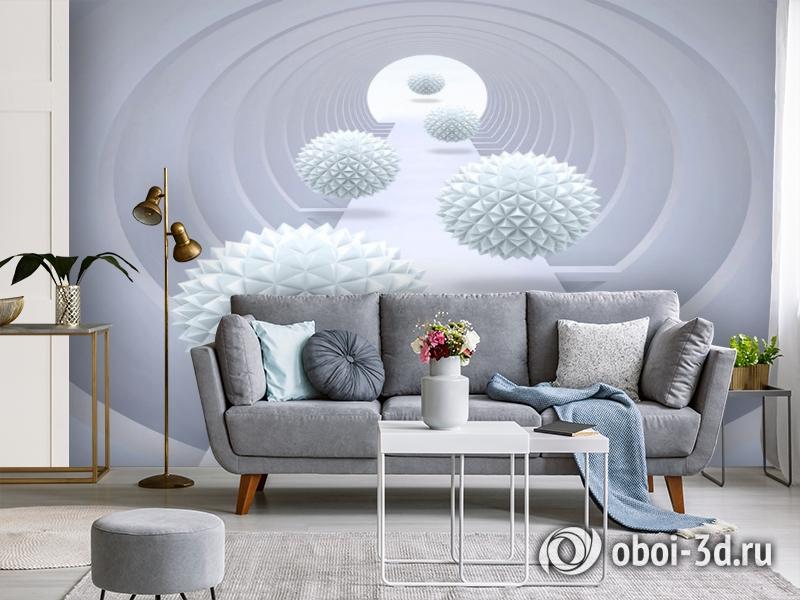 3D Фотообои «Абстрактный тоннель» вид 4