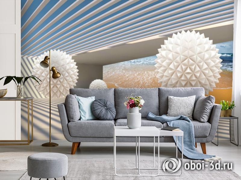 3D Фотообои «Футуристичная композиция» вид 4