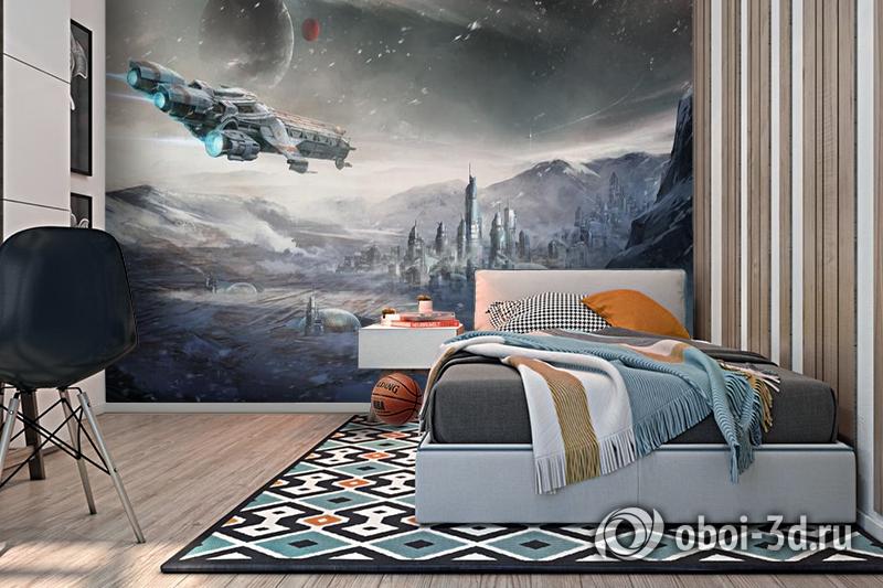 3D Фотообои  «Космический корабль»  вид 2