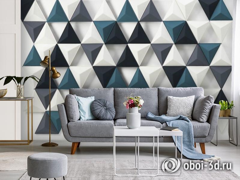 3D Фотообои «Треугольная плитка» вид 3