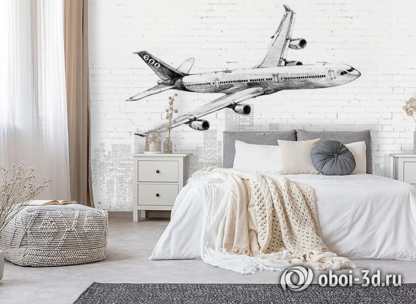 3D Фотообои «Авиалайнер» вид 8