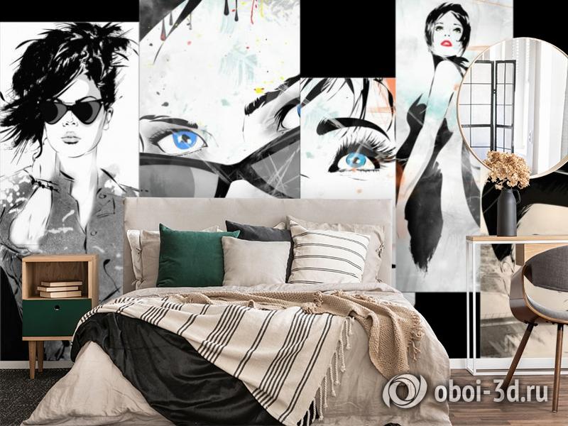 3D Фотообои «Модное панно» вид 4