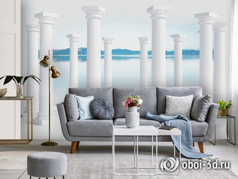 3D Фотообои «Абстракция с колоннами» вид 4