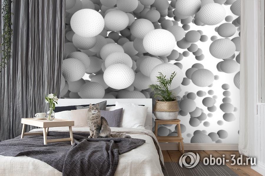 3D Фотообои «Мячи для гольфа» вид 8