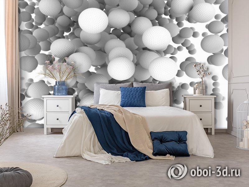3D Фотообои «Мячи для гольфа» вид 5