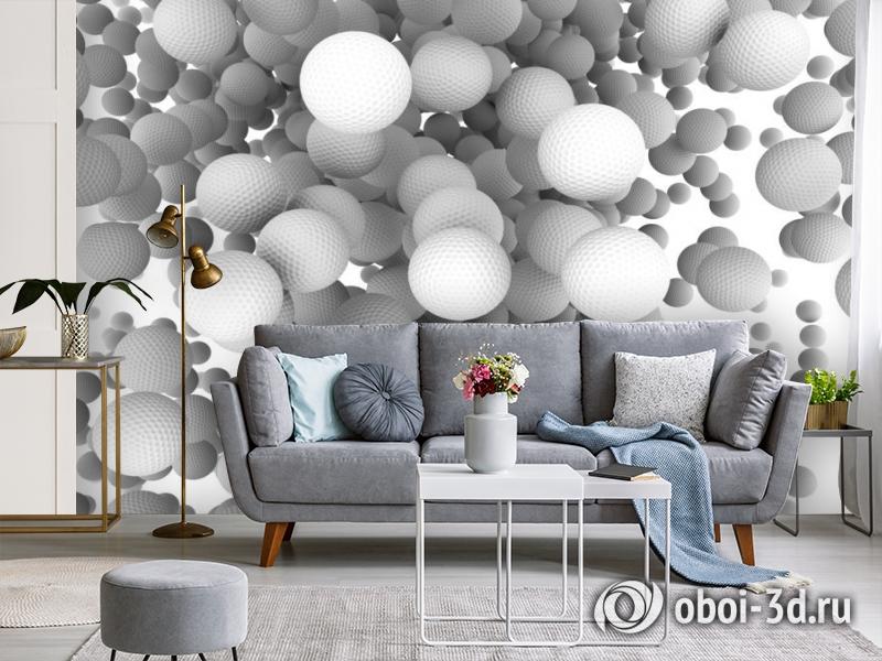 3D Фотообои «Мячи для гольфа» вид 4