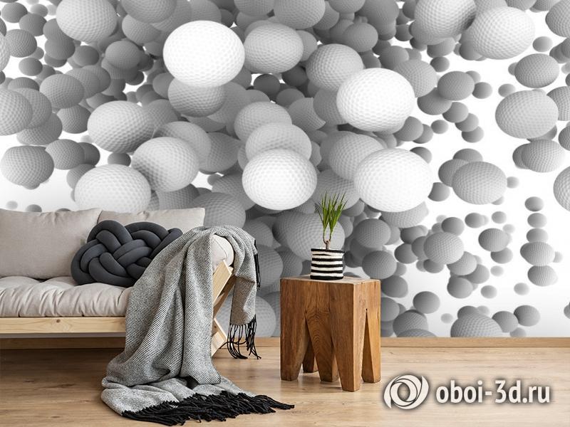 3D Фотообои «Мячи для гольфа» вид 2