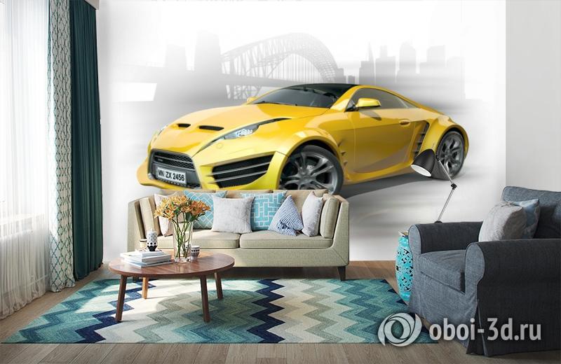 3D Фотообои «Концепт автомобиля» вид 6