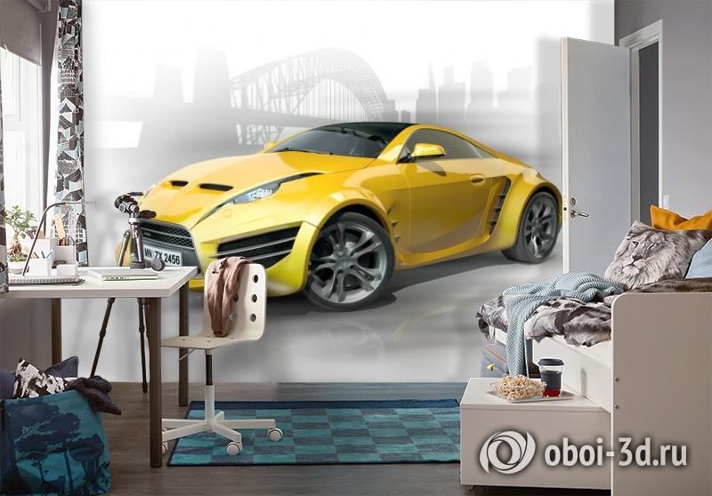 3D Фотообои «Концепт автомобиля» вид 4
