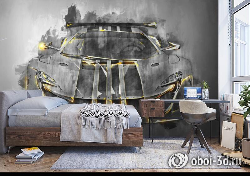 3D Фотообои «Мощная спортивная машина» вид 5