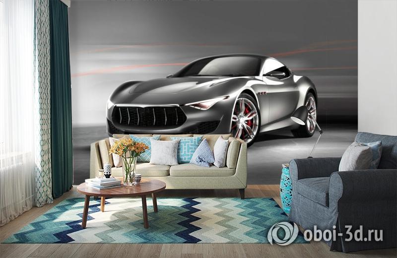 3D Фотообои «Современный автомобиль в серых тонах» вид 6