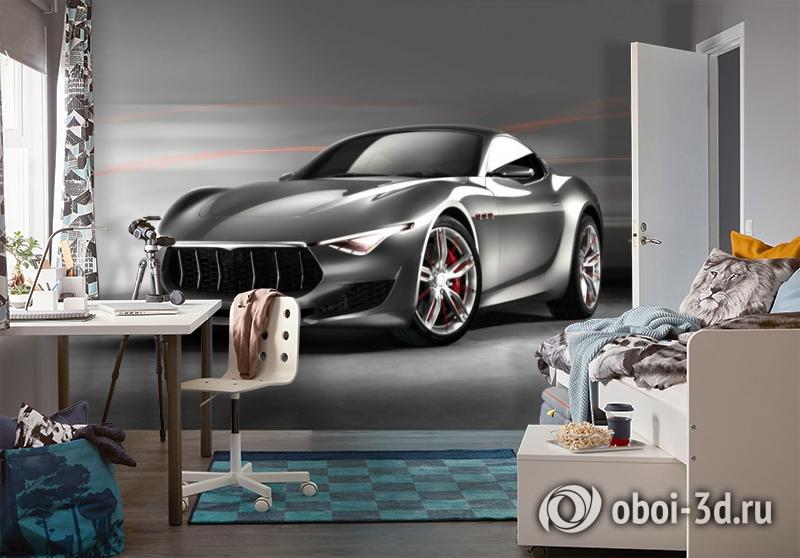 3D Фотообои «Современный автомобиль в серых тонах» вид 4