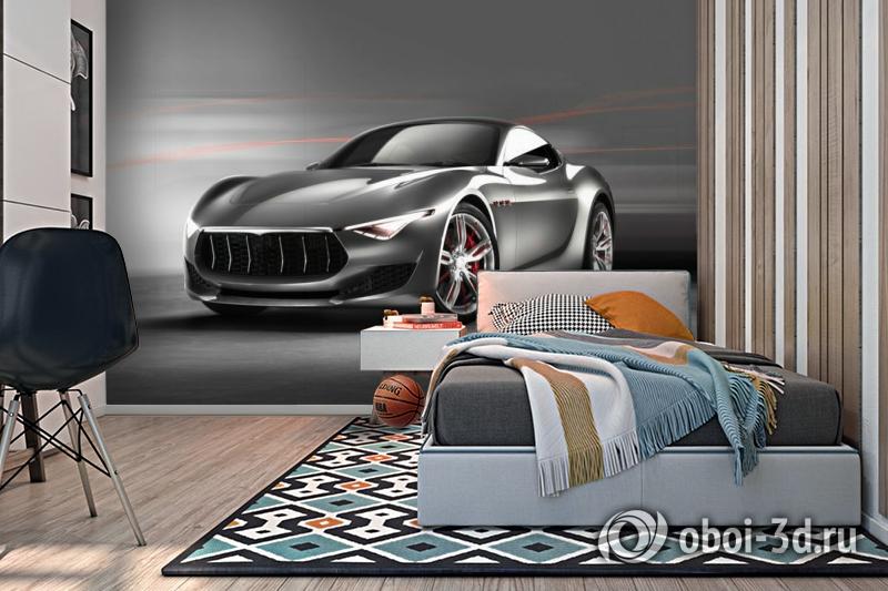 3D Фотообои «Современный автомобиль в серых тонах» вид 2