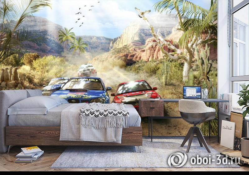 3D Фотообои «Ралли в Африке» вид 5