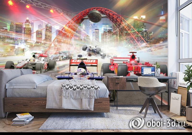 3D Фотообои «Формула 1» вид 5