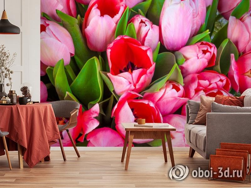 3D Фотообои «Букет тюльпанов» вид 5