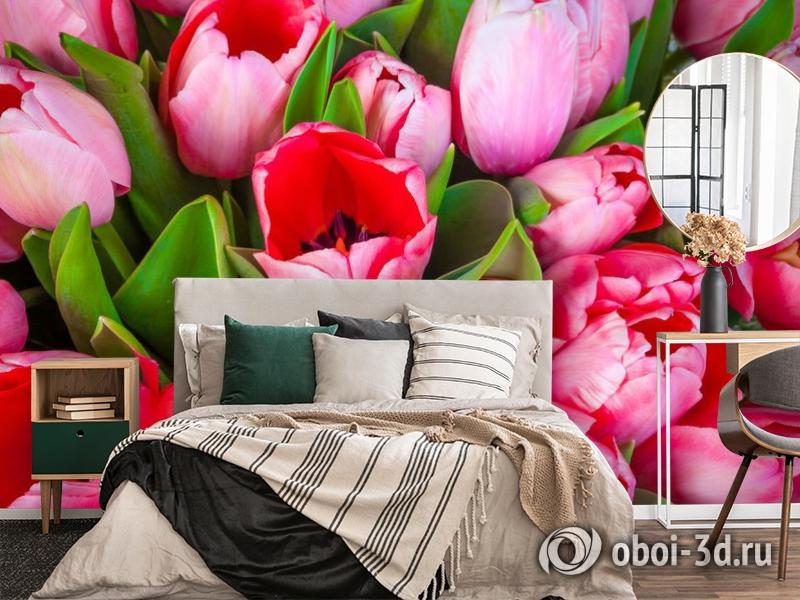3D Фотообои «Букет тюльпанов» вид 4