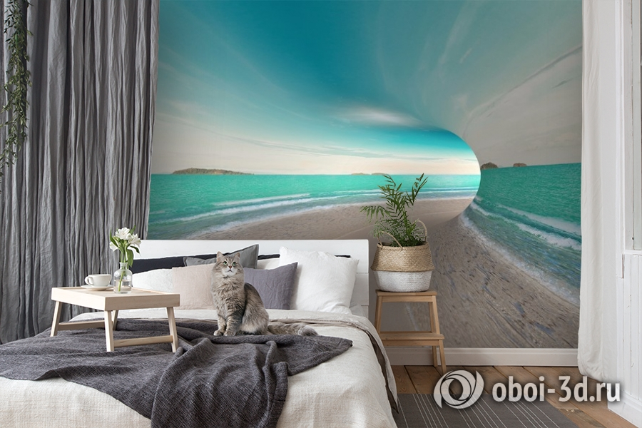 3D Фотообои «Морской тоннель» вид 8