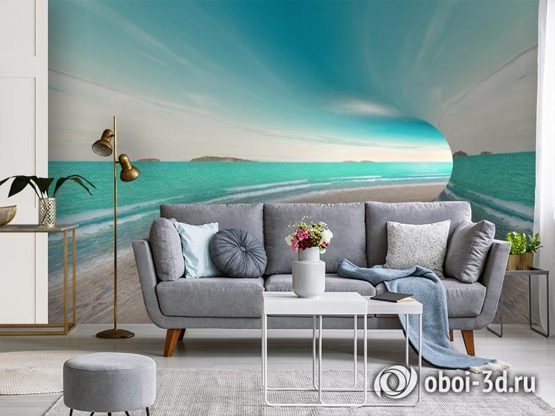 3D Фотообои «Морской тоннель» вид 4
