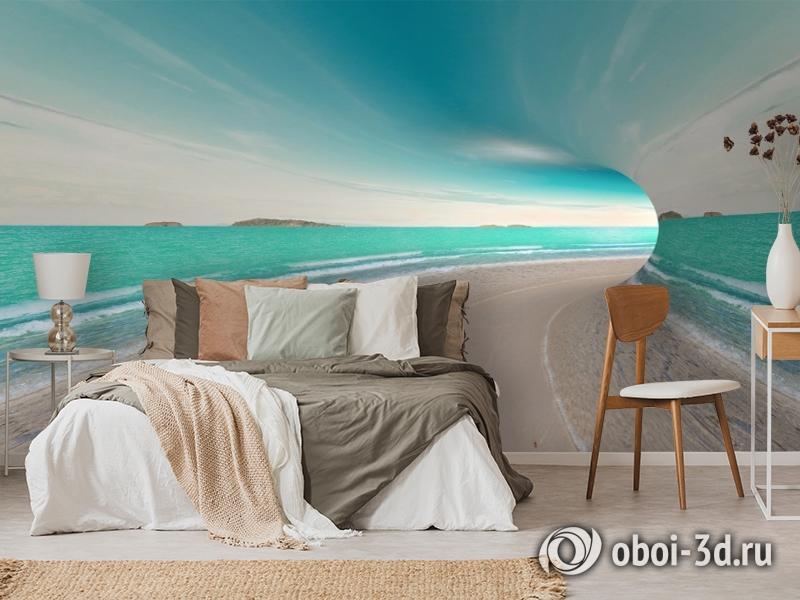 3D Фотообои «Морской тоннель» вид 3