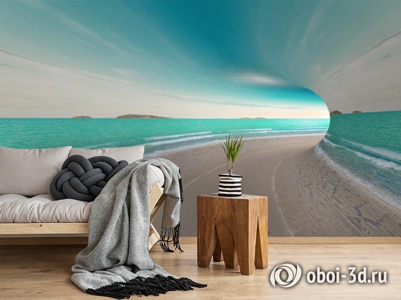 3D Фотообои «Морской тоннель» вид 2